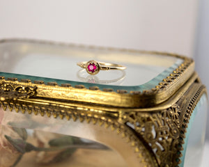 unique ruby solitaire ring
