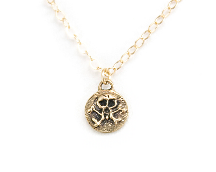 Gold Skull and Crossbones necklace