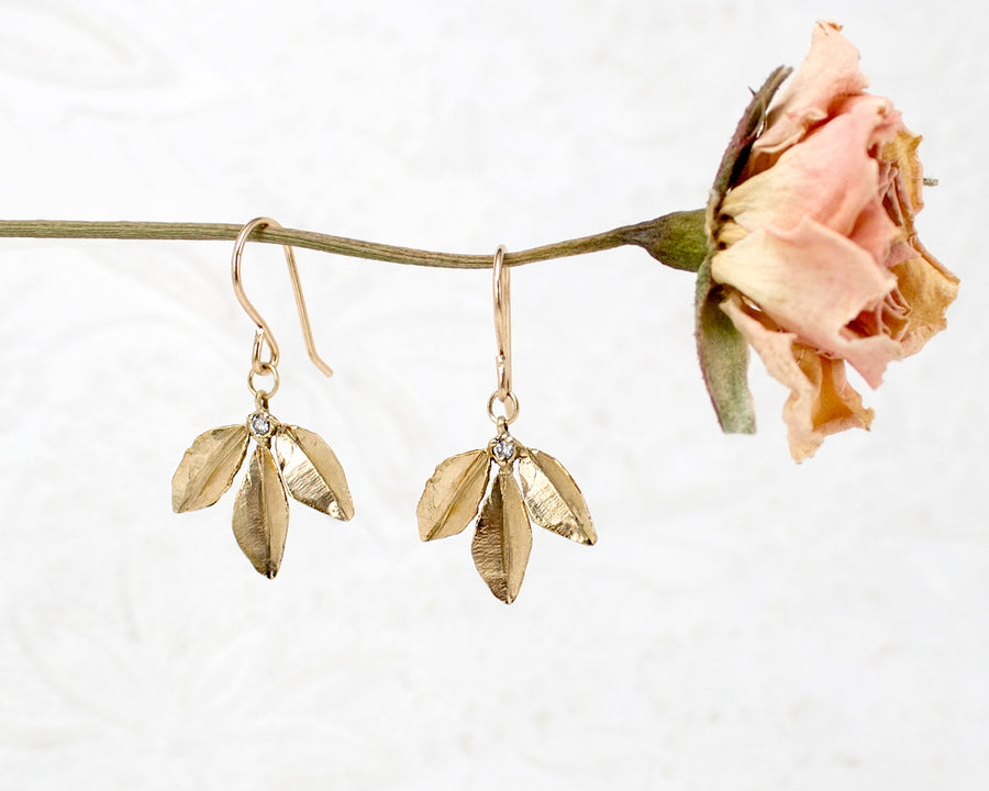 Sprig Leaf Earrings
