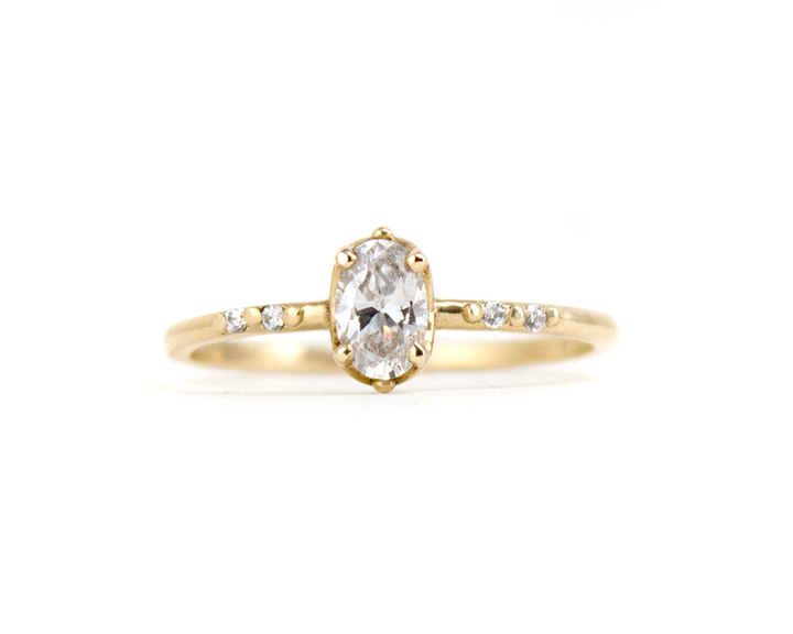 1/2 oval diamond ring