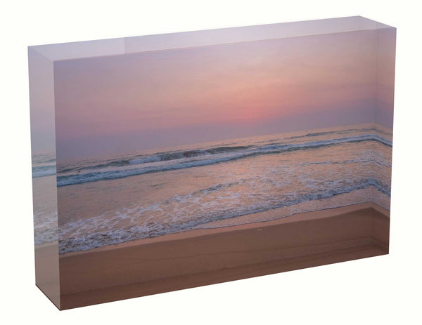 Acrylic block sunrise photo 4th January 2020 Manly beach, Sydney