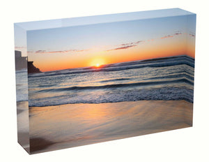 Sunrise photo 1st July 2020 Queenscliff beach Acrylic Block