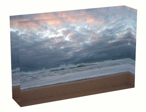 Acrylic block sunrise photo 11th August 2020 Manly beach, Sydney