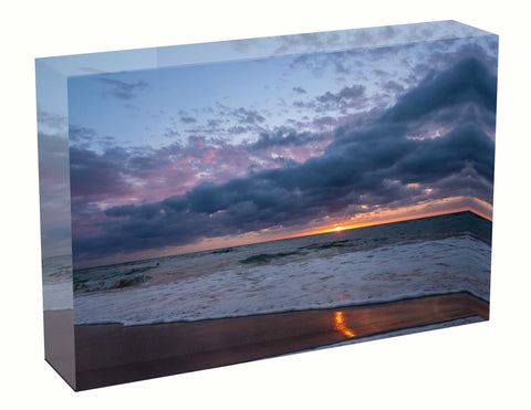 acrylic block Sunrise photo from the 11th March 2021 at Manly beach in Sydney