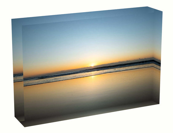 Acrylic block Sunrise photo from 12th April 2020 at Manly Beach, Sydney