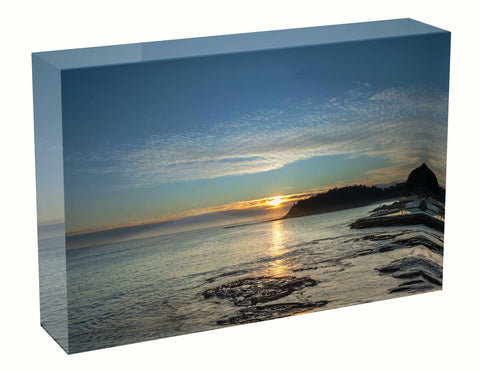 Acrylic block Sunrise photo 12th July 2020 Shelly Beach Walkway, Sydney