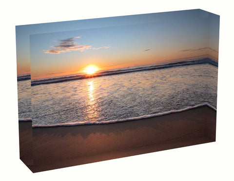 Acrylic block sunrise photo 13 August 2020 Manly beach, Sydney