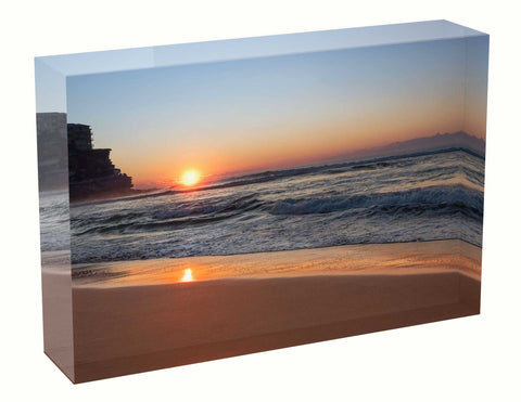 Acrylic Block Sunrise photo 13th July 2020 Queenscliff Beach, Sydney