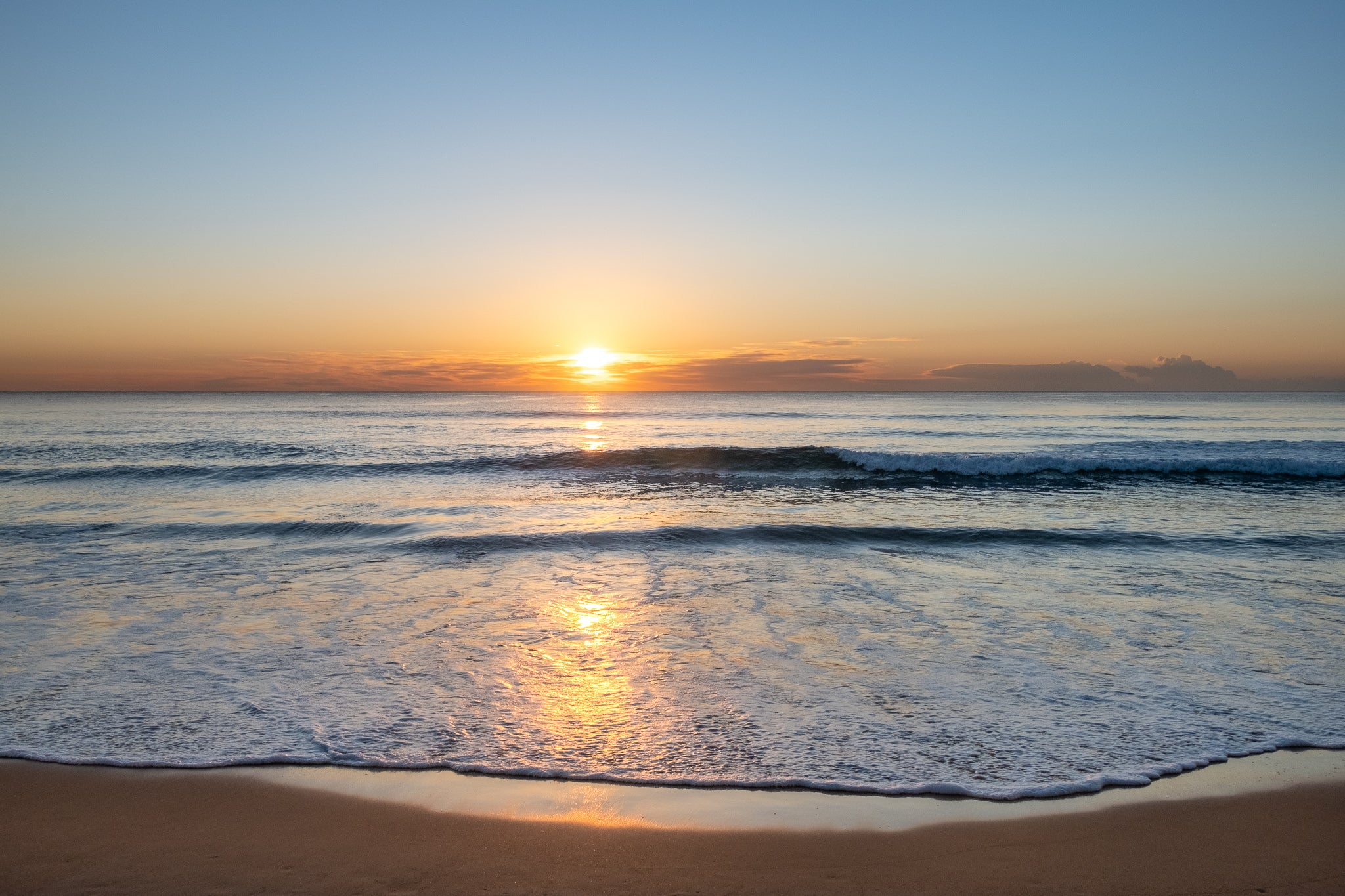 Sunrise photo from the 14th September 2019 at Manly Beach in Sydney