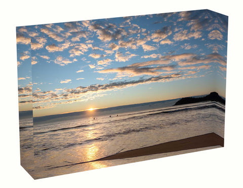 Acrylic block sunrise photo 15th August 2020 Manly beach, Sydney