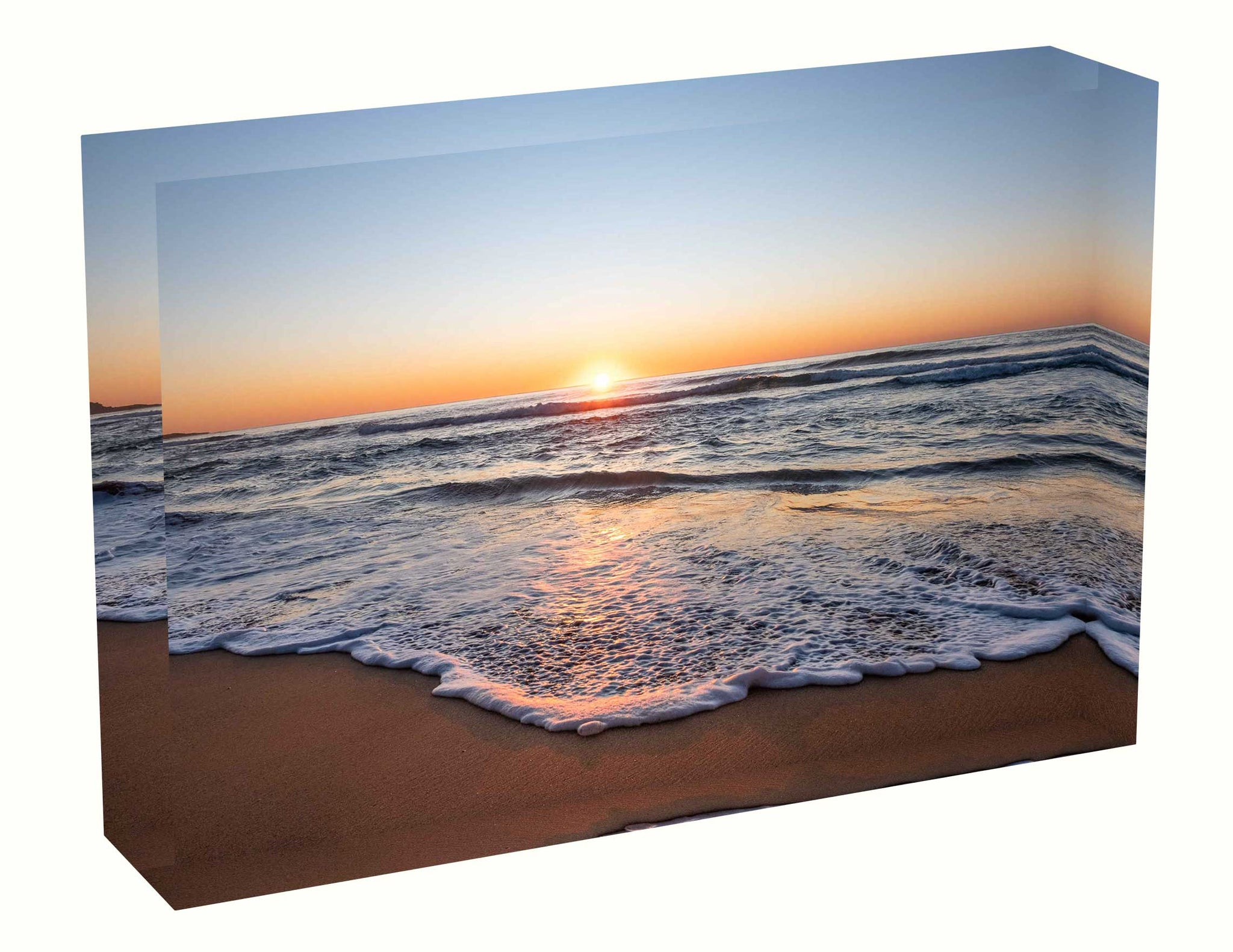 Acrylic block Sunrise photo from the 15th June 2020 at Manly beach in Sydney