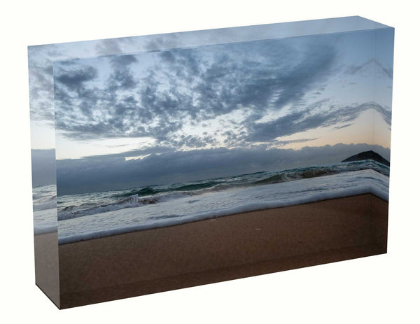 Acrylic block sunrise photo 15th March 2021 Manly beach, Sydney unique gift wedding birth