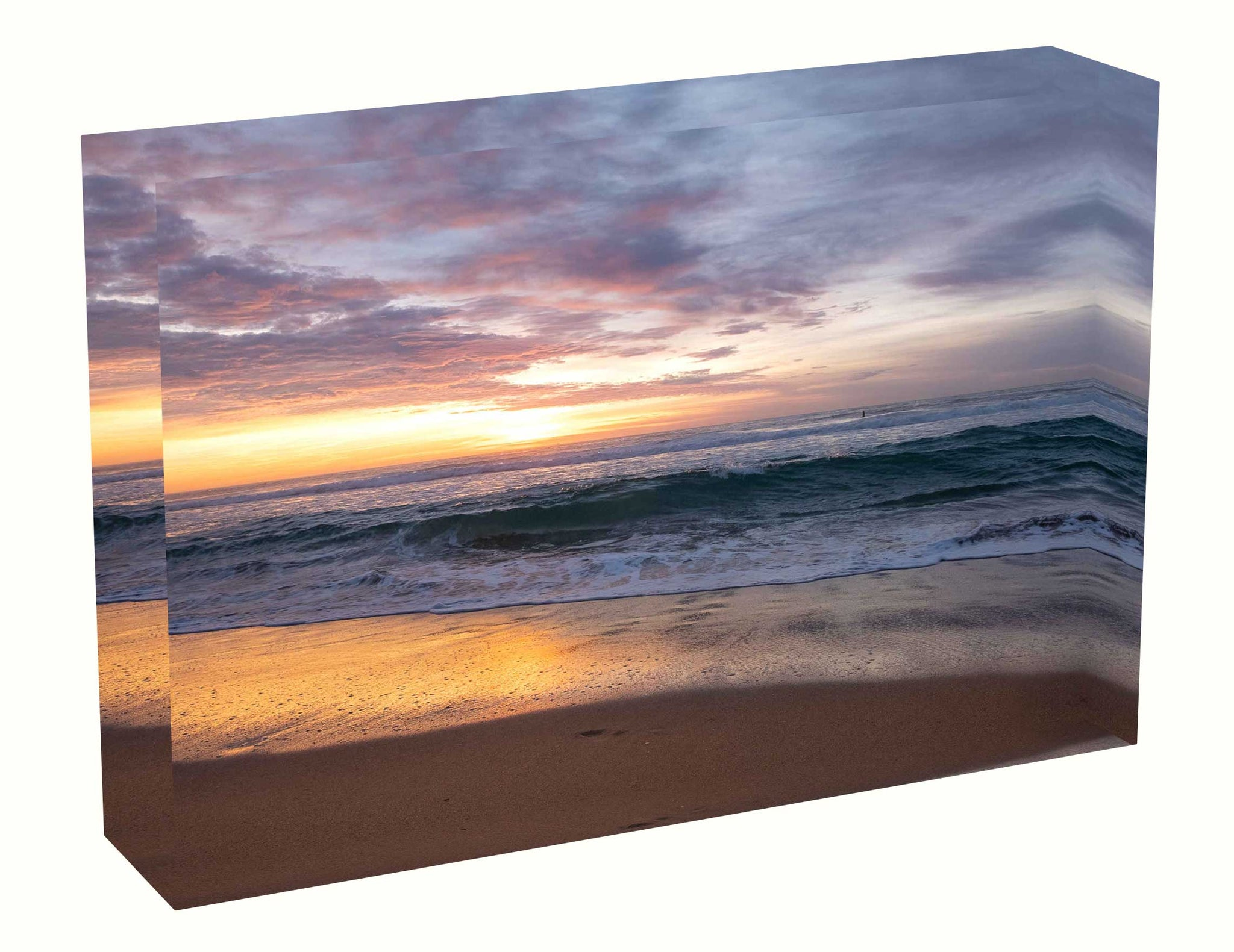 Acrylic block Sunrise photo from the 16th April 2020 at Manly beach in Sydney