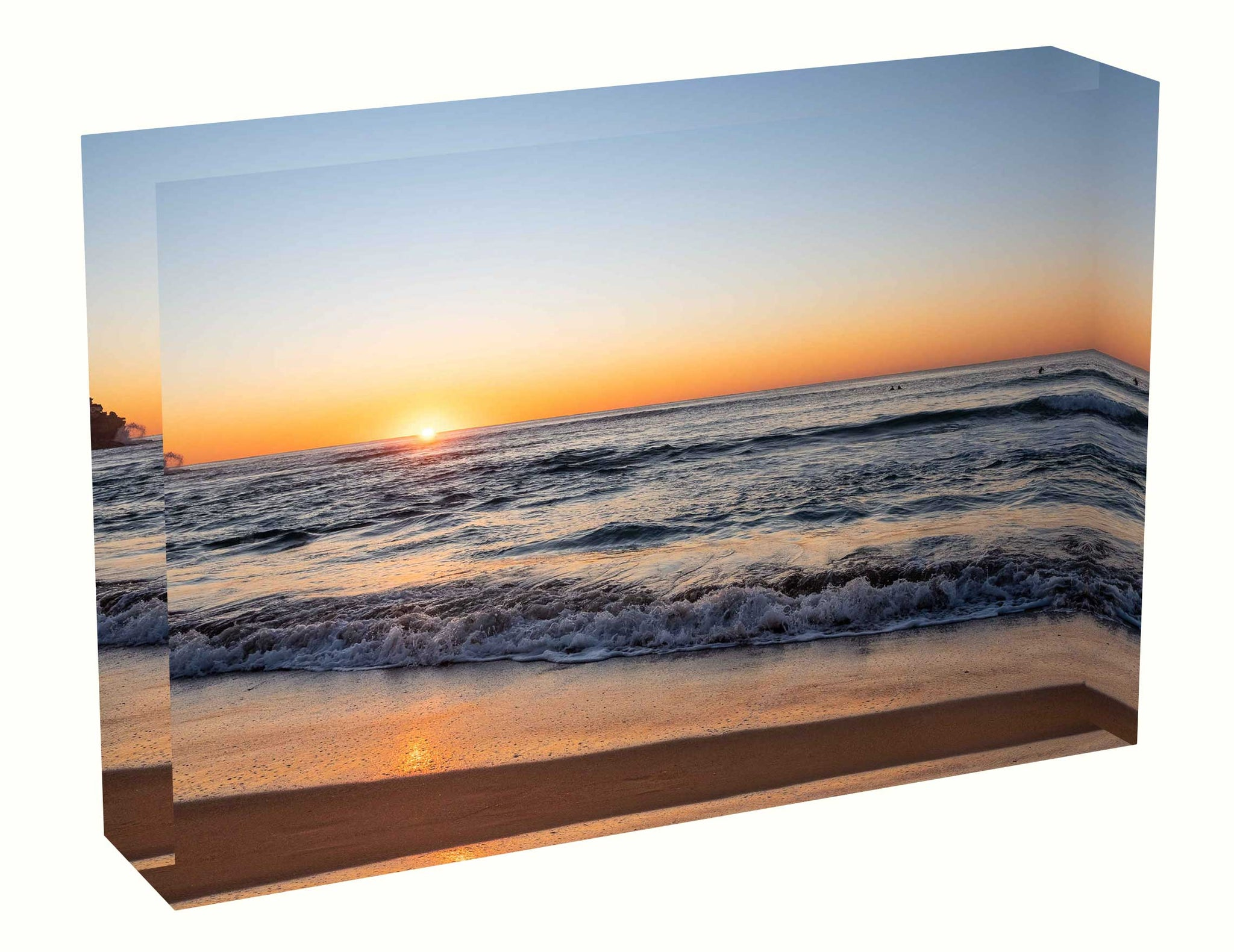 Acrylic block Sunrise photo from the 16th June 2020 at Queenscliff beach in Sydney