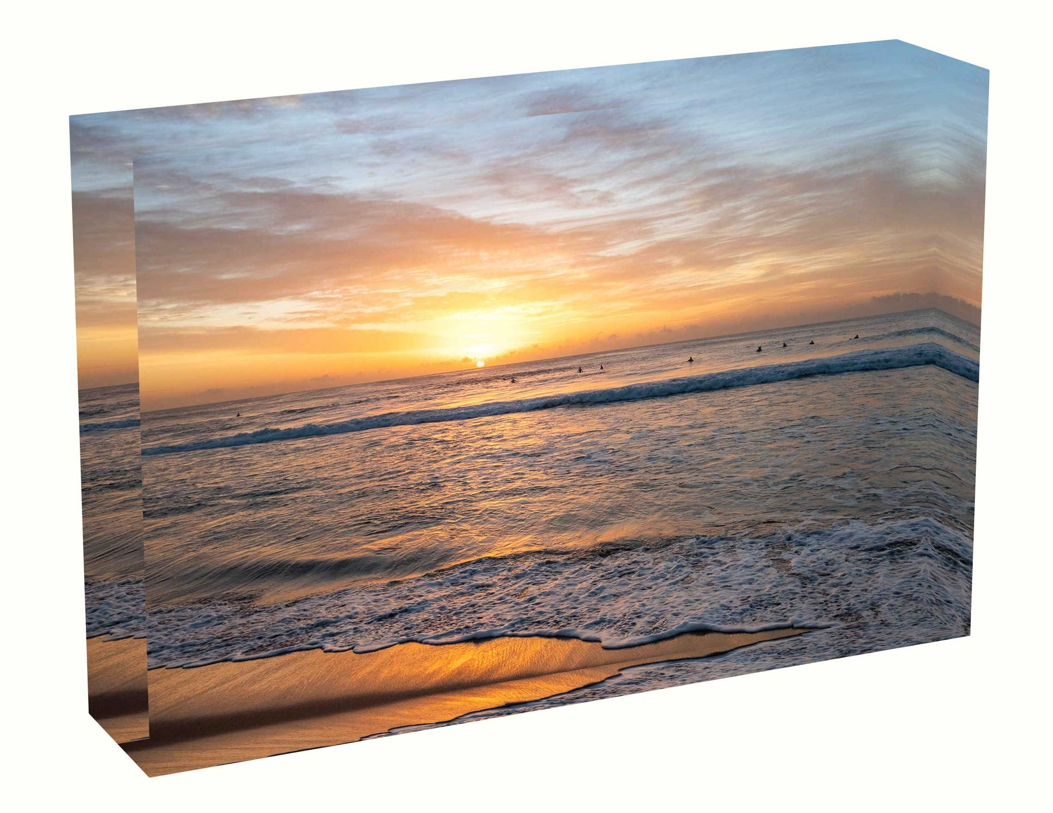 acrylic block Sunrise photo from the 17th April 2020 at Manly beach in Sydney