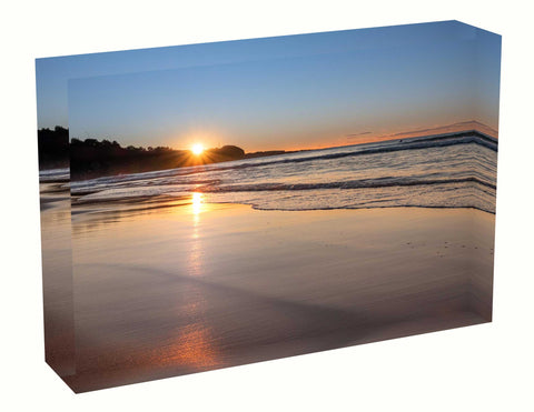 Acrylic block sunrise photo 17 August 2020 Freshwater beach, Sydney
