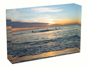 Acrylic block Sunrise photo from the 18th April 2020 at Manly beach in Sydney