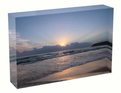 acrylic block Sunrise photo from the 18th January 2021 at Manly beach in Sydney