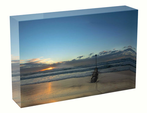Acrylic block sunrise photo 18th July 2020 Manly beach, Sydney