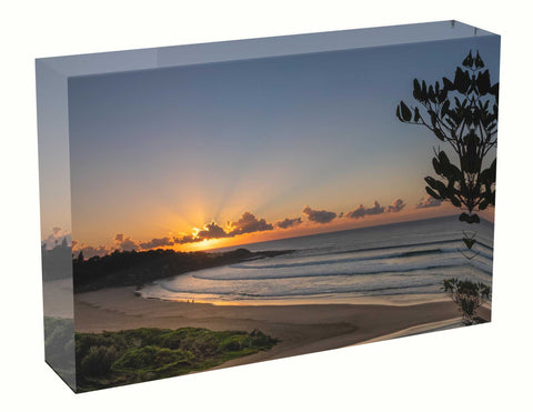 acrylic block Sunrise photo from the 18th April 2021 at Manly beach in Sydney