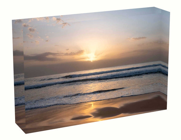 Acrylic block sunrise photo 19th February 2020 Manly beach, Sydney