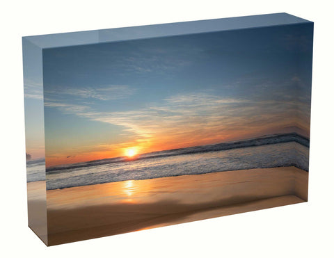 Acrylic block sunrise photo 19th July 2020 Manly beach, Sydney