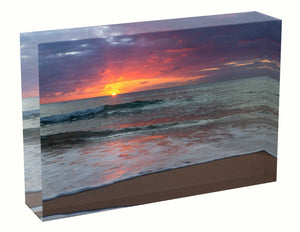 Acrylic block sunrise photo 1 September  2020 Manly beach, Sydney