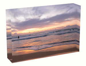Acrylic block Sunrise photo from 2nd April 2020 at Manly Beach, Sydney