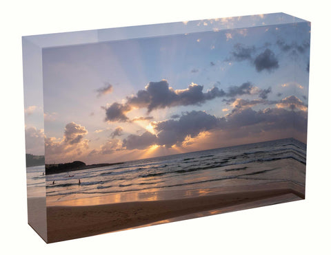acrylic block Sunrise photo from the 2nd March 2021 in Sydney, Wedding gift, Birth sunrise