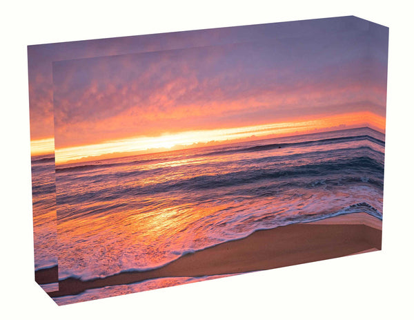 Acrylic block Sunrise photo from the 20th April 2020 at Manly beach in Sydney