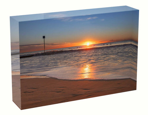 Acrylic block sunrise photo 20th July 2020 Manly beach, Sydney
