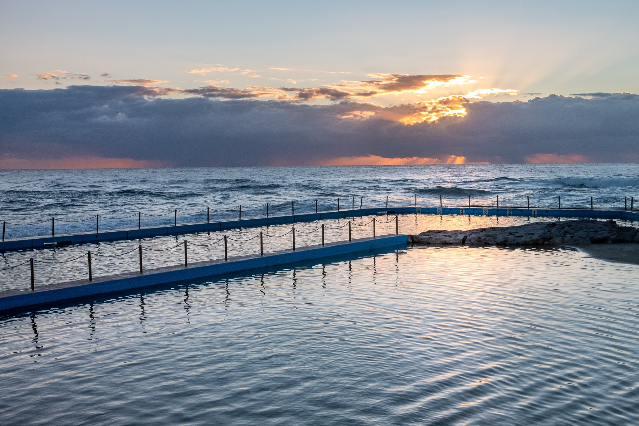 Sunrise photo from 20th October 2019 at Curl Curl Rock Pool, Sydney