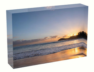 Acrylic block sunrise photo 21 January 2021 unique gift anniversary birth