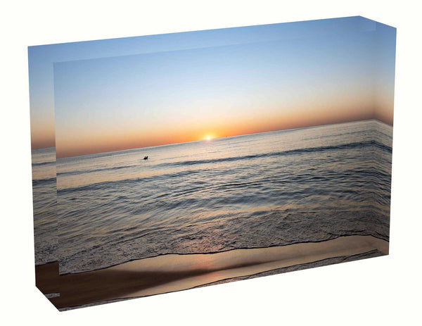 Acrylic block Sunrise photo from the 22nd April 2020 at Manly Beach, Sydney