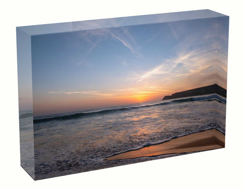 Acrylic block sunrise photo 23rd January 2021 personalised gift for wedding, birth, anniversary