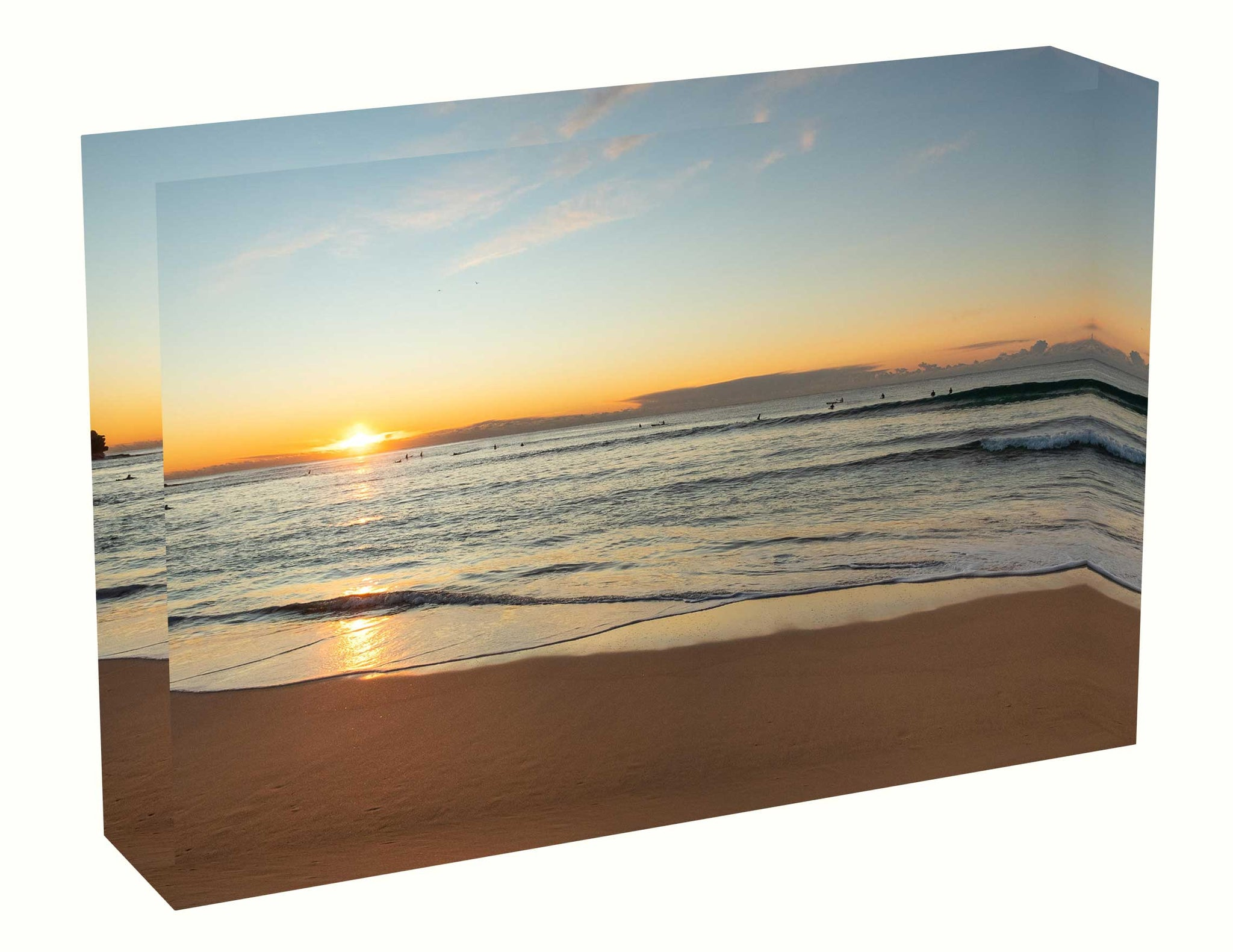 Acrylic block Sunrise photo from the 23 June 2020 at Queenscliff Beach in Sydney