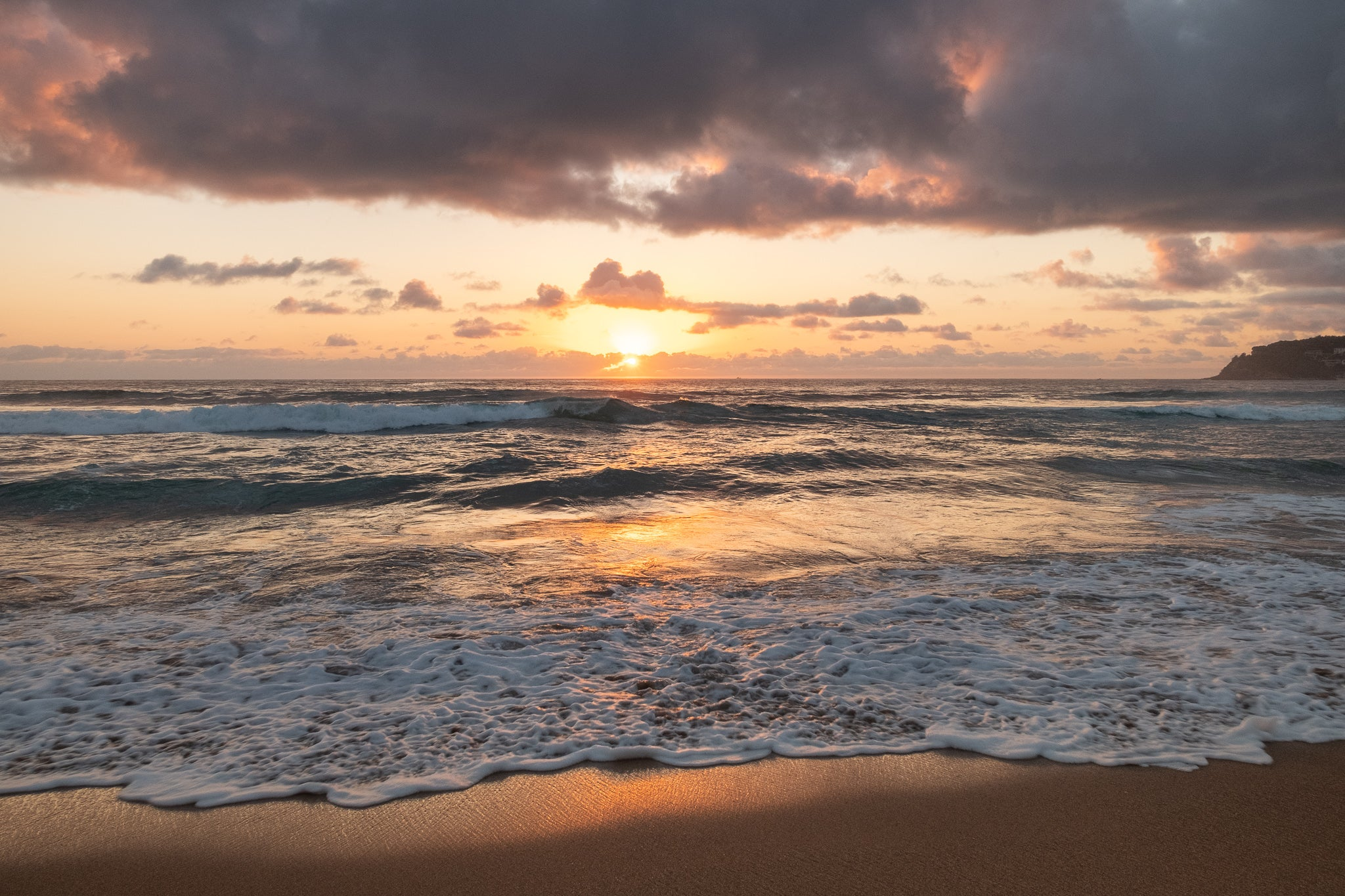 Sunrise photo from 23rd October 2019 at Manly Beach, Sydney