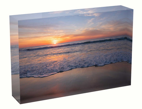 Acrylic block sunrise photo 24th April 2021 Manly beach, Sydney