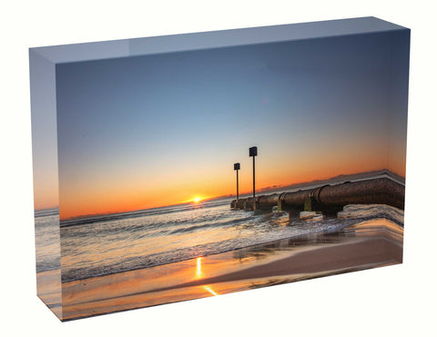 Acrylic block sunrise photo 24th August 2020 Manly beach, Sydney