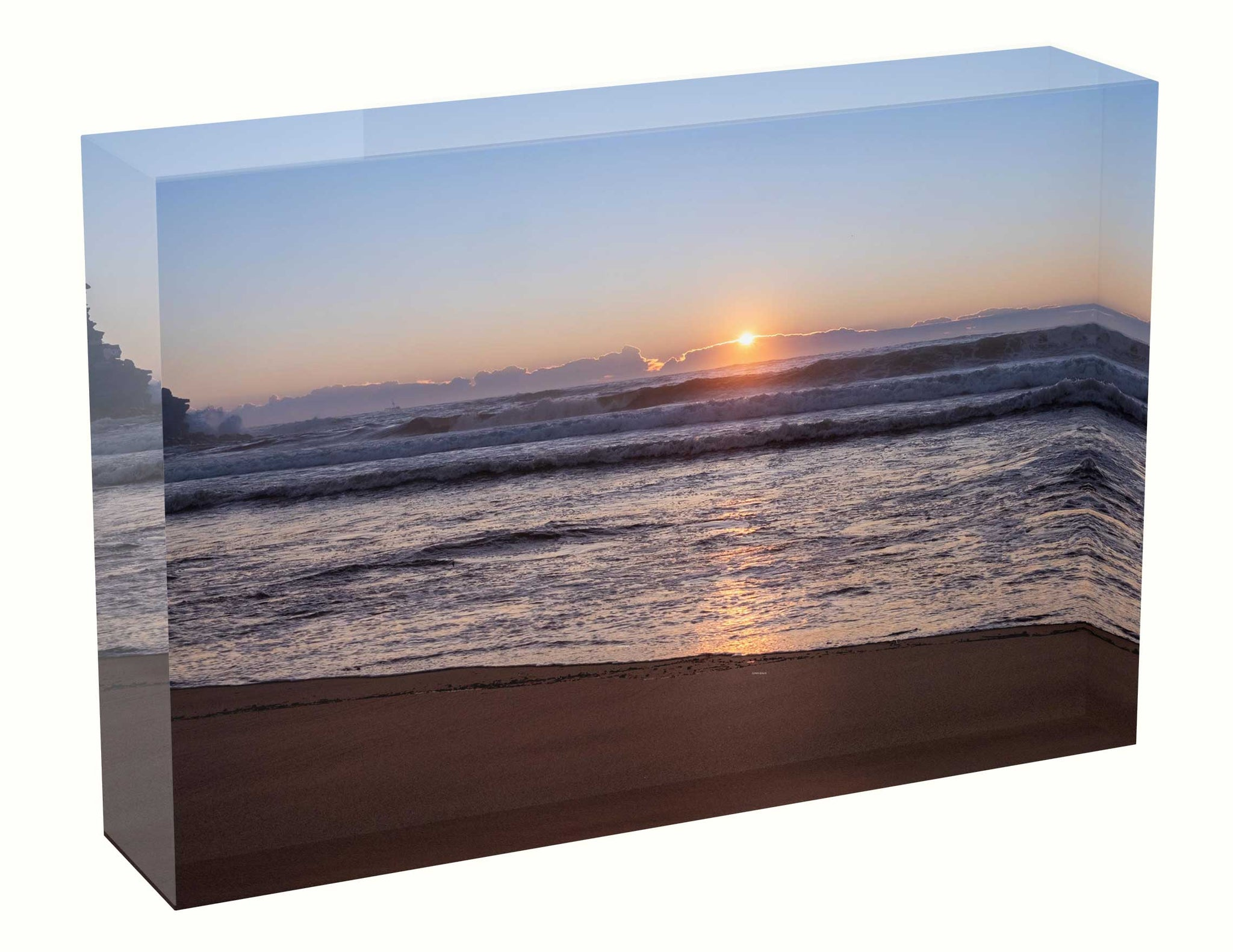 acrylic block Sunrise photo from the 24th March 2021 at Manly beach in Sydney Birthsunrise unique gift