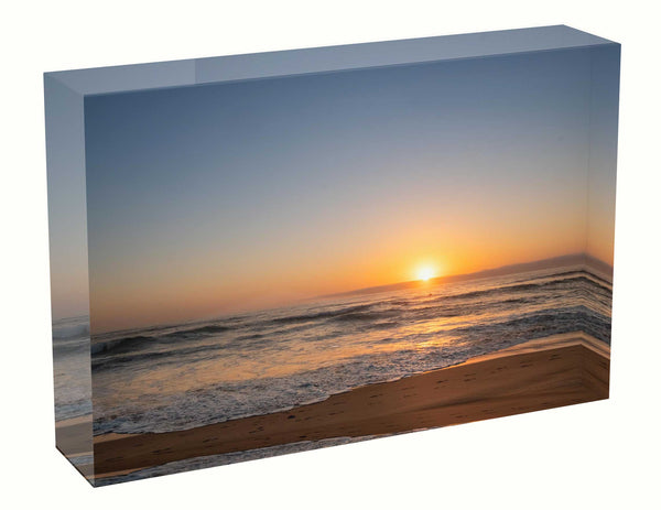 Acrylic block sunrise photo 23 January 2021, Sydney Gift Wedding Birth