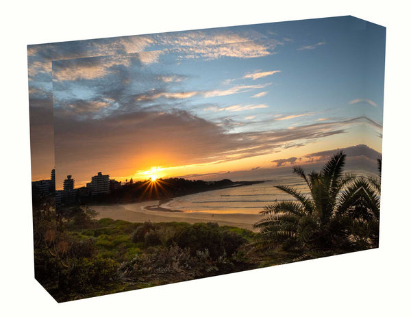 Acrylic block sunrise photo 25th July 2020 Freshwater beach, Sydney