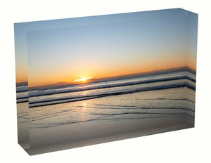 Acrylic block Sunrise photo from the 25 June 2020 at Manly beach in Sydney