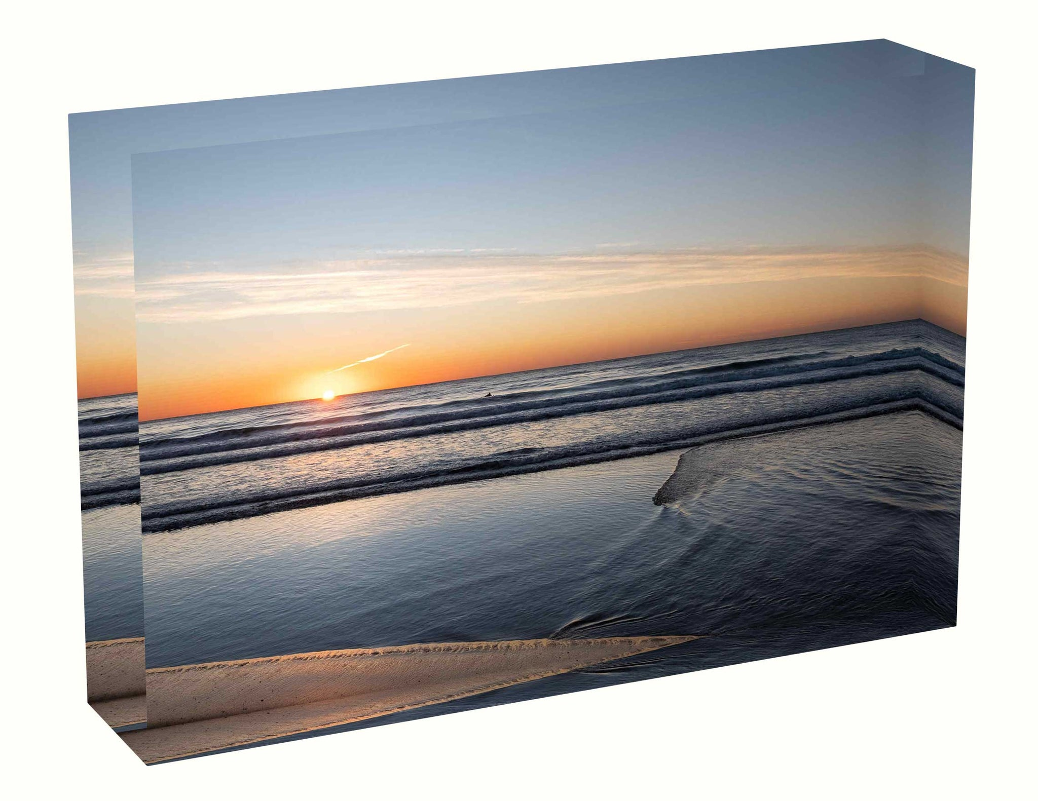 Acrylic block Sunrise photo from the 26th April 2020 at Manly Beach, Sydney