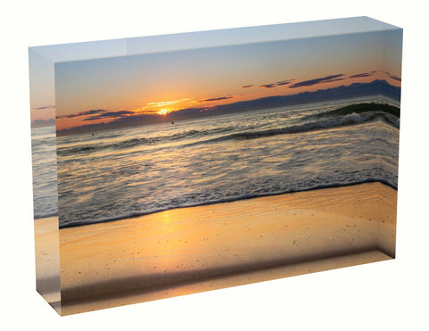 Acrylic block sunrise photo 26th August 2020 Manly beach, Sydney
