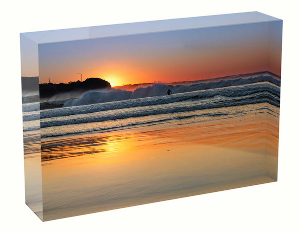Acrylic block sunrise photo 27th August 2020 Freshwater beach, Sydney