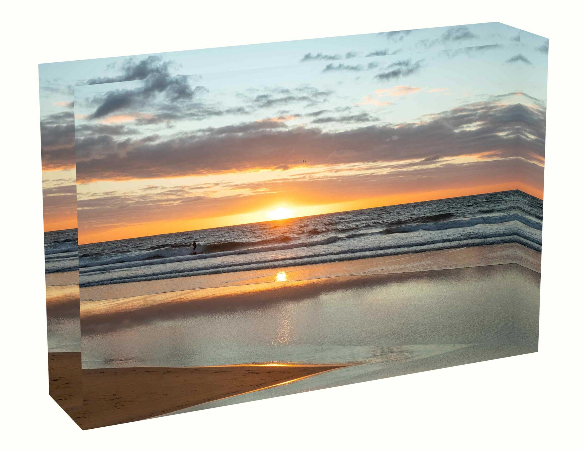 Acrylic block Sunrise photo from 28th April 2020 at Manly beach, Sydney