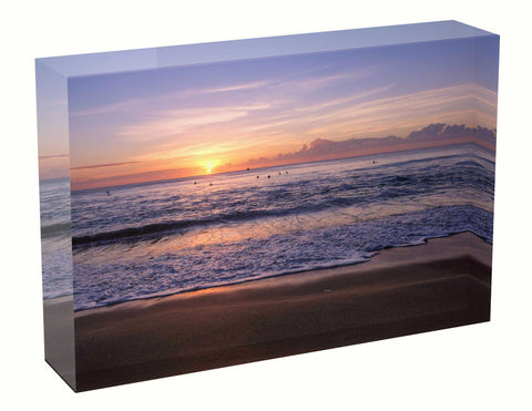 Acrylic block sunrise photo 28th March 2021 Manly beach, Sydney