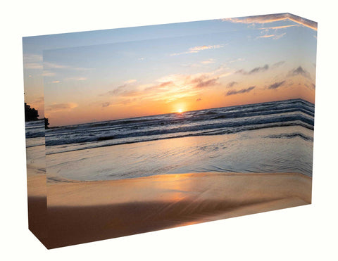 Acrylic block Sunrise photo from 29th April 2020 at Queenscliff beach, Sydney