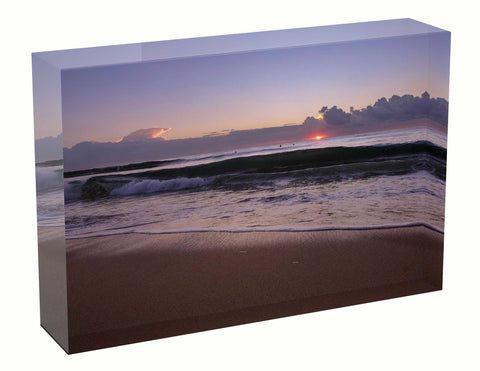Acrylic block sunrise photo 29th March 2021 Manly beach, Sydney